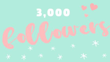 3000 blog followers